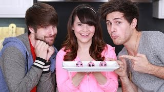 VEGAN DONUT BRONUT HOLES ft. Smosh! - NERDY NUMMIES