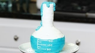 HOW TO MAKE A SCIENCE BEAKER CAKE - NERDY NUMMIES
