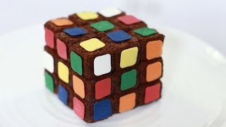 RUBIKS CUBE BROWNIES - NERDY NUMMIES