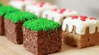 MINECRAFT RICE KRISPY TREATS - NERDY NUMMIES