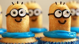 DESPICABLE ME MINION CUPCAKES - NERDY NUMMIES