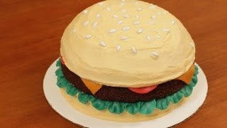 HOW TO MAKE A HAMBURGER CAKE - NERDY NUMMIES