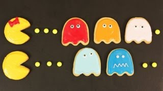 HOW TO MAKE PACMAN COOKIES - NERDY NUMMIES