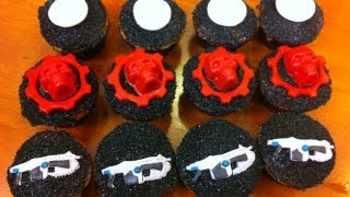 GEARS OF WAR CUPCAKES - NERDY NUMMIES