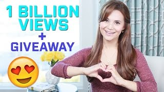 1 BILLION VIEWS + GIVEAWAY!