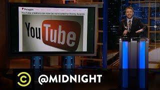 Nikki Glaser, Kyle Kinane, Doug Benson - YouTube Awards - @midnight with Chris Hardwick