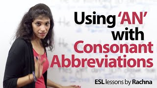Using 'an' with consonant abbreviations – Free Grammar Lesson