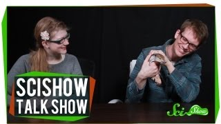 Emily and Hank Meet a Blue-Tongued Skink: SciShow Talk Show Episode 5