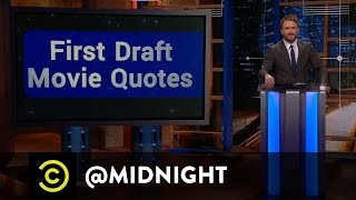 Jonathan Coulton, Aimee Mann, Dave Hill - First Draft Movie Quotes - @midnight with Chris Hardwick