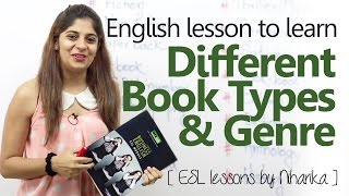 Spoken English lesson - Different Book Types & Genre ( Learn English online)