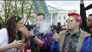 Protesters Smoke Weed In Front Of The White House