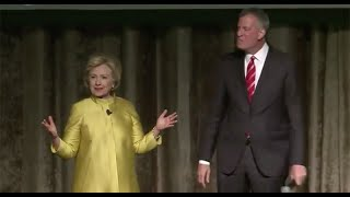 Hillary Clinton, Bill de Blasio Comedy Routine Causes Outrage