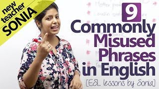 09 commonly misused phrases in English - Free English lessons