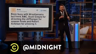 """The Walking Dead"" Creator Reveals Season Seven Bombshell - @midnight with Chris Hardwick"