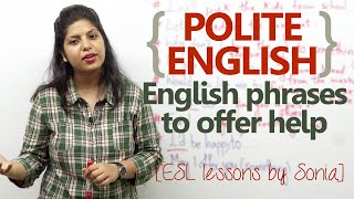 Polite English phrases to offer help - Spoken English Lesson