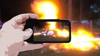 Rocket Bonfire Bullet Time Experiment - Smarter Every Day 65