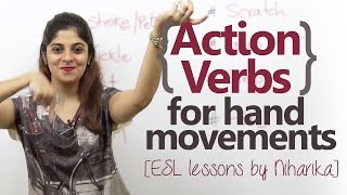 Action Verbs with Hand Movements – English Speaking Lesson