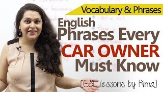 English conversation phrases every CAR Owner must know - Free English Lessons