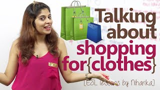 English Lesson - Shopping for Clothes ( Improve your English communication)