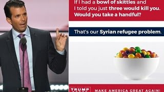 Trump Jr. Compares Syrian Refugees To Poison Skittles