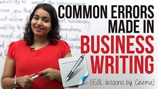 Common errors made in Business Writing ( Business Emails & Letters) - Business English Lesson