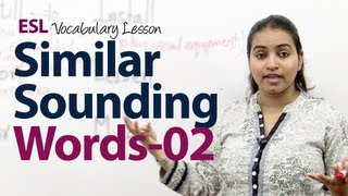 Similar Sounding & confusing Words Pairs -  Part 02 - English Vocabulary Lesson ( ESL )