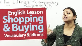 English lesson : Shopping and Buying | Idioms, Phrases and Slangs | Intermediate Level
