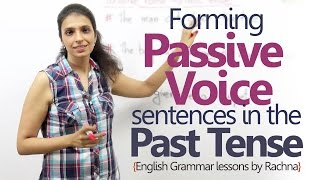 English Grammar lesson - Passive voice sentences in the past tense ( Learn English)
