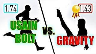 Usain Bolt vs. Gravity