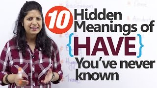 Using 'Have' – 10 Hidden meanings you've never known – Free English lessons (ESL)
