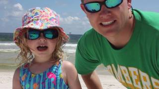 3 year old reports on oil spill conditions on Alabama's Gulf coast