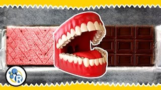 Gum + Chocolate = ????? (Weird Food Tricks #1)