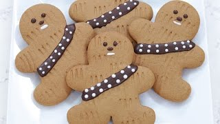STAR WARS GINGERBREAD WOOKIEE COOKIES - NERDY NUMMIES