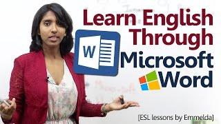 Learn English through 'Microsoft Word' - English Lessons by Emmelda