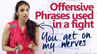 Offensive English phrases used in a fight –  English lesson for beginners and advanced learners.
