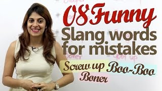 Funny English Slang Words for Mistakes - Learn English with Niharika ( Free English Lessons)