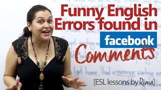 Funny English errors found in Facebook comments - English lesson by Rima (Learn English for free)