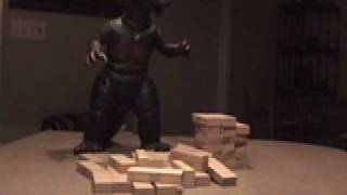 Godzilla doesn't play Jenga