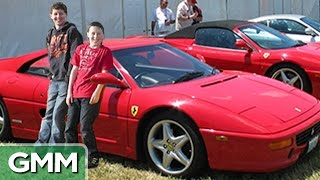 Two Kids Dig Up A Ferrari
