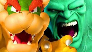 NERD WARS: Bowser VS The Hulk: Who Would Win? -- Wackygamer