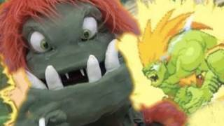 Street Fighter PUPPET SHOW: BLANKA!