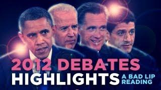 """2012 Debates Highlights"" — A Bad Lip Reading of the 2012 US Presidential Debates"