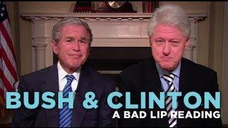 """Bush & Clinton"" — A Bad Lip Reading Soundbite"