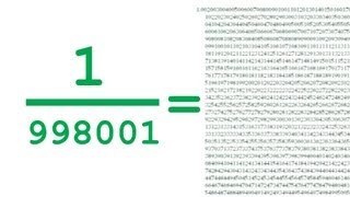 998,001 and its Mysterious Recurring Decimals - Numberphile