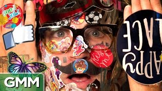 Covered In 800 Stickers