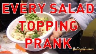 Ordering a Salad with Every Topping Prank