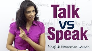 The difference between the verbs  'Speak' and 'Talk' - English Grammar lesson