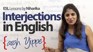 Using  Interjections in English – Free English Lesson