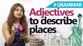 English Conversation lesson – Adjectives to describe places (Learn English with subtitles)