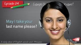 Daily English Vocabulary - E09 English vocabulary & phrases